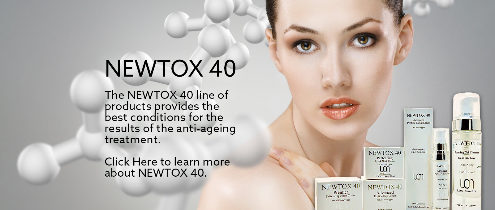 The Newtox line of products provides the best conditions for the results of the anti-aging treatment.