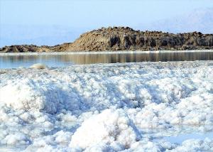 Salt deposits in the Dead Sea
